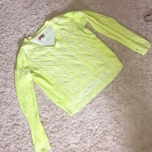 Slightly cropped neon sweater